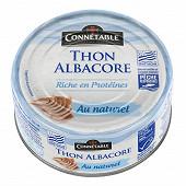 Connetable thon albacore msc entier au naturel 112g