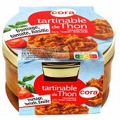 Vdr82 tartinable de thon fromage tomate basilic cora 125g