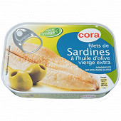 Cora filets de sardines huile d'olive vierge extra 100g
