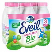Eveil lait de croissance nature bio 6x1l