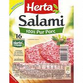 Herta Salami pur porc 16 tranches 160 g