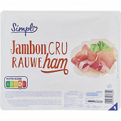 Jambon cru 6 tranches 100g