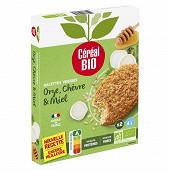 Céréal bio galettes de céréales orge chèvre miel 2x100g