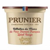 Prunier Rillettes du Mans de porc fermier pot label rouge 220g