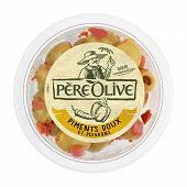 Père Olive olives piments doux et poivrons 150g