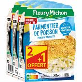 Fleury Michon parmentier de poisson à la ciboulette 3x300g Lot 2+1 offert