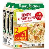 Fleury Michon poulet risotto aux cèpes 3x280g Lot 2+1 offert