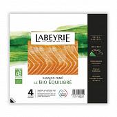 Labeyrie saumon Atlantique Bio fumé 4 tranches 110g