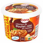 Cora rillettes de poulet rôti en cocotte format familial 400g