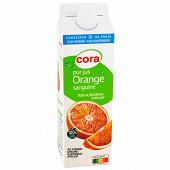 Cora pur jus d'orange sanguine 1l