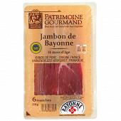 Patrimoine gourmand jambon de Bayonne 14 mois d'âge 6 tranches 120g