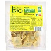 Nature bio ravioli emmental basilic 250g