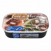 Nordland Foie de morue goût fumé 121g