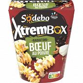 Sodebo Xtrem Box radiatori boeuf sauce au poivre 400g
