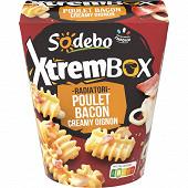 Sodebo xtrembox radiatori poulet bacon creamy oignon 400g