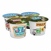 Les 2 Vaches yaourt brassé vanille 4x115g