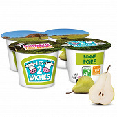 Les 2 Vaches yaourt brassé poire 4x115g