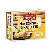Entremont raclette sans croûte mon comptoir à raclette environ 8 tranches 28%mg 140g