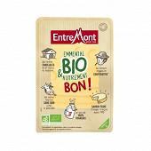 Entremont tranches emmental au lait pasteurisé bio 31%mg 180g