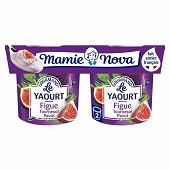 Mamie Nova yaourt gourmand figue tournesol pavot 2x150g