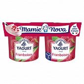 Mamie Nova gourmand yaourt framboise 2x150g
