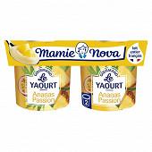Mamie Nova gourmand yaourt ananas passion 2 x 150 g
