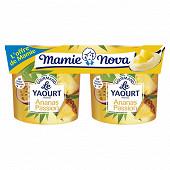 Mamie Nova yaourt gourmand ananas passion 2x150g l'offre de mamie