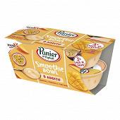Panier de Yoplait smoothie bowl mangue passion curcuma 4x110g