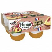 Panier de Yoplait nature sur fruits récoltes françaises 2 4x140g