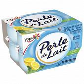 Perle de lait aromatisé citron 8x125g
