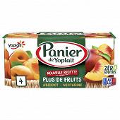 Panier de Yoplait standard abricot nectarine  4x130g