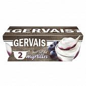 Gervais sur lit myrtilles 2x115g