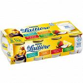 La Laitière Yaourt au lait entier fruits panachés 8x125g