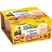 La Laitière Liégeois au yaourt sur lit de pêches 4x100g