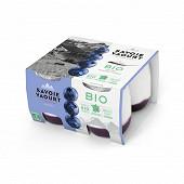 Savoie Yaourt yaourt sucré à la myrtille bio 4x120g