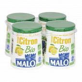 Malo yaourt pot carton bio citron 4x125g