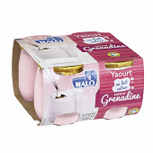 Malo yaourt grenadine pot verre 4x125g