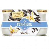 La fermière yaourt vanille pot grès 2 x 140 g
