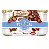 La fermière yaourt brassé sucré marron 2x160g