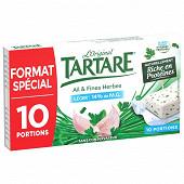 Tartare léger ail & fines herbes 10 portions 160g format spécial