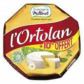 Fromagerie Milleret l'ortolan 250g +10% offert soit 275g
