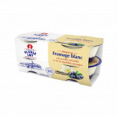 Alsace Lait dessert fromage blanc vanille coulis myrtilles 6.2%mg 4x125g