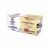 Alsace Lait fromage blanc à la vanille naturelle sur lit de framboise 4x125g 2.3%mg