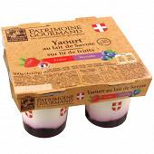 Patrimoine Gourmand yaourt sur lit de fruits rouges 4x125g