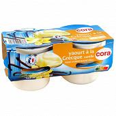 Cora yaourt à la grecque aromatisé vanille 4x150g