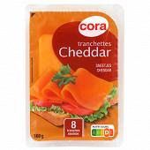 Cora tranchettes cheddar X8 - 32% mg/pt lait pasteurisé 160g