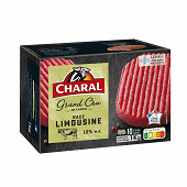 Charal steak haché grand cru race limousine 12% mg 10x100g