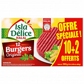 Isla Délice hamburger halal 10+2 offerts 960g