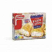 Findus filet de cabillaud MSC façon fish and chips 4x100g