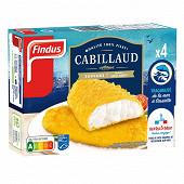 Findus 4 filets de cabillaud panés 400 g